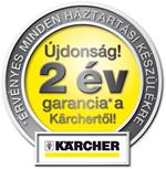 2 év garancia a Kärchertől minden háztartási készülékre!