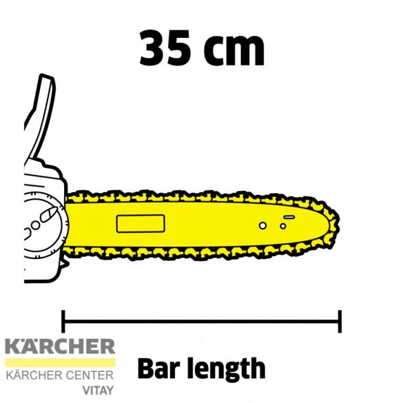 KÄRCHER CNS 36-35 Akkumulátoros láncfűrész (akkumulátor nélkül)