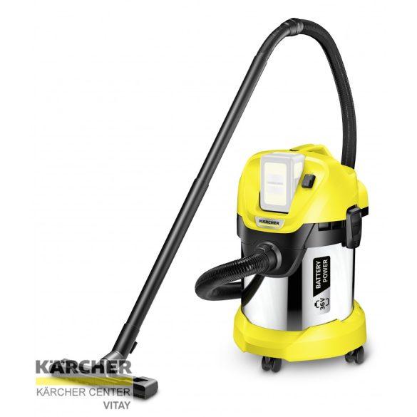 KÄRCHER WD 3 Premium Akkumulátoros többfunkciós porszívó (akkumulátor nélkül)