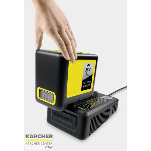 KÄRCHER Gyorstöltő és 5,0 Ah akkumulátor 36 V-os gépekhez 36/50